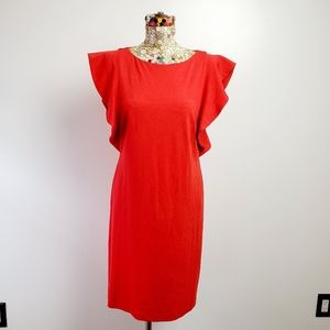 Halston size 12 red dress